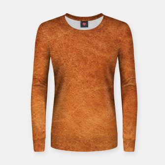 Thumbnail image of Original Moroccan Camel Leather Texture. Women sweater, Live Heroes