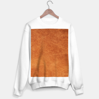 Thumbnail image of Original Moroccan Camel Leather Texture. Sweater regular, Live Heroes