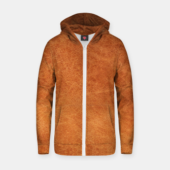Thumbnail image of Original Moroccan Camel Leather Texture. Zip up hoodie, Live Heroes