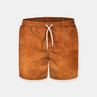 Thumbnail image of Original Moroccan Camel Leather Texture. Swim Shorts, Live Heroes
