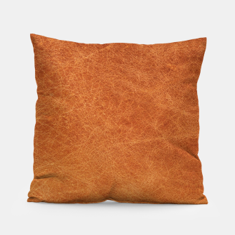 Thumbnail image of Original Moroccan Camel Leather Texture. Pillow, Live Heroes