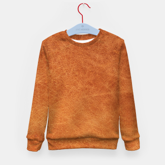 Thumbnail image of Original Moroccan Camel Leather Texture. Kid's sweater, Live Heroes