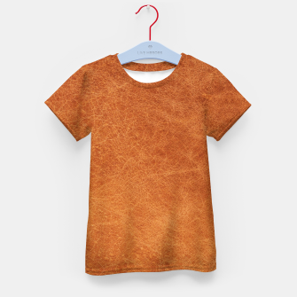 Thumbnail image of Original Moroccan Camel Leather Texture. Kid's t-shirt, Live Heroes