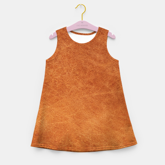 Thumbnail image of Original Moroccan Camel Leather Texture. Girl's summer dress, Live Heroes