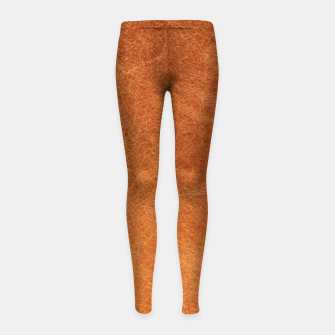 Thumbnail image of Original Moroccan Camel Leather Texture. Girl's leggings, Live Heroes