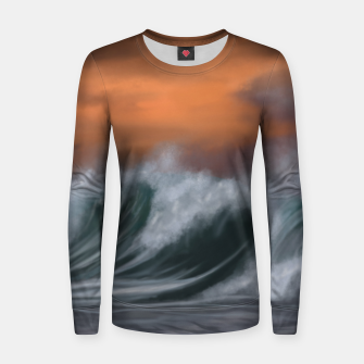Thumbnail image of Moody Waves Women sweater, Live Heroes