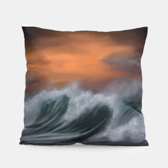 Thumbnail image of Moody Waves Pillow, Live Heroes