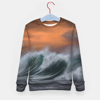 Thumbnail image of Moody Waves Kid's sweater, Live Heroes