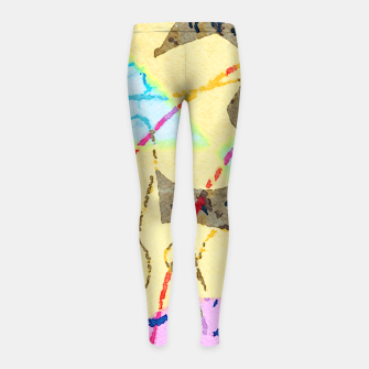 Miniaturka Cheerful Girl's leggings, Live Heroes
