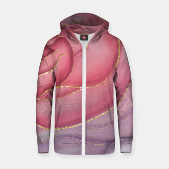 Thumbnail image of Gold Edged Rose Zip up hoodie, Live Heroes