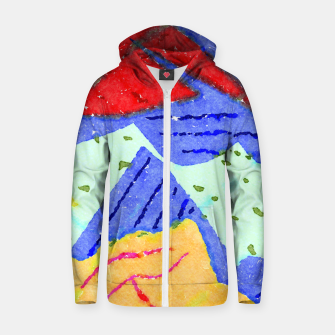 Miniature de image de Hiking Zip up hoodie, Live Heroes