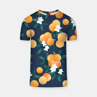 Thumbnail image of Orange Twist Flower Night Vibes #2 #tropical #fruit #decor #art  T-Shirt, Live Heroes