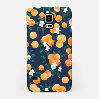 Thumbnail image of Orange Twist Flower Night Vibes #2 #tropical #fruit #decor #art  Handyhülle für Samsung, Live Heroes