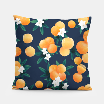 Thumbnail image of Orange Twist Flower Night Vibes #2 #tropical #fruit #decor #art  Kissen, Live Heroes