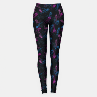 Miniature de image de Magnificent jellyfishes dance in deep space Leggings, Live Heroes