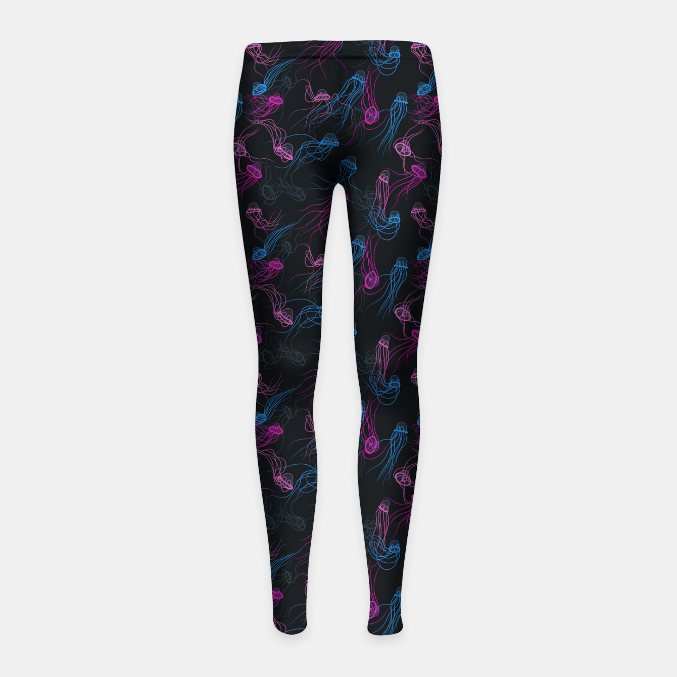 Zdjęcie Magnificent jellyfishes dance in deep space Girl's leggings - Live Heroes