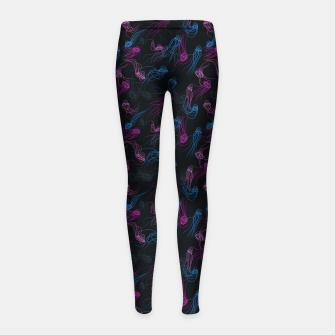 Miniature de image de Magnificent jellyfishes dance in deep space Girl's leggings, Live Heroes