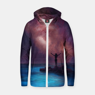 Thumbnail image of Between the stars and the seaa Zip up hoodie, Live Heroes