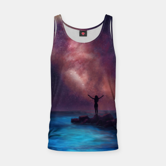 Thumbnail image of Between the stars and the seaa Tank Top, Live Heroes