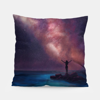 Thumbnail image of Between the stars and the seaa Pillow, Live Heroes
