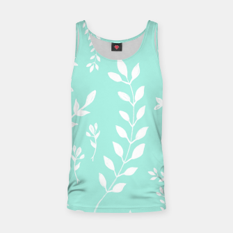 Thumbnail image of White Leaves Pattern #5 #mint #drawing #decor #art Muskelshirt , Live Heroes