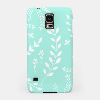 Thumbnail image of White Leaves Pattern #5 #mint #drawing #decor #art Handyhülle für Samsung, Live Heroes