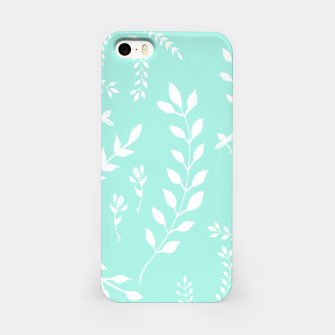Thumbnail image of White Leaves Pattern #5 #mint #drawing #decor #art iPhone-Hülle, Live Heroes