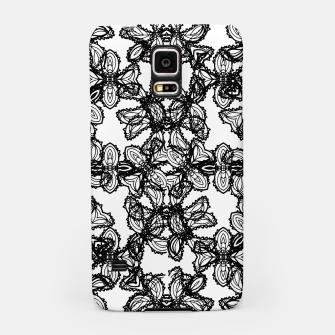 Miniaturka Stylized Botanical Motif Black and White Print Samsung Case, Live Heroes
