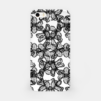 Miniaturka Stylized Botanical Motif Black and White Print iPhone Case, Live Heroes