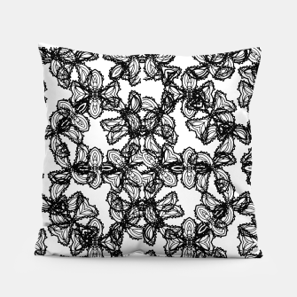 Miniaturka Stylized Botanical Motif Black and White Print Pillow, Live Heroes