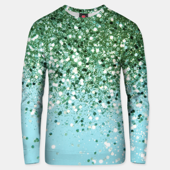 Thumbnail image of Green Blue Summer Glitter #1 (Faux Glitter - Photography) #shiny #decor #art  Unisex sweatshirt, Live Heroes