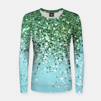 Thumbnail image of Green Blue Summer Glitter #1 (Faux Glitter - Photography) #shiny #decor #art  Frauen sweatshirt, Live Heroes