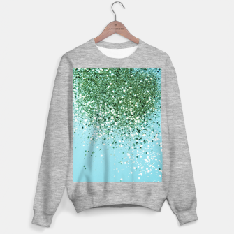 Thumbnail image of Green Blue Summer Glitter #1 (Faux Glitter - Photography) #shiny #decor #art  Sweatshirt regulär, Live Heroes