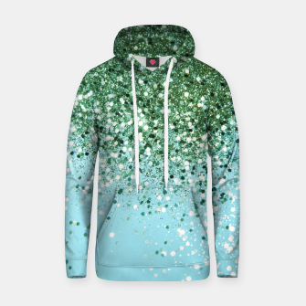 Thumbnail image of Green Blue Summer Glitter #1 (Faux Glitter - Photography) #shiny #decor #art  Kapuzenpullover, Live Heroes