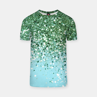 Thumbnail image of Green Blue Summer Glitter #1 (Faux Glitter - Photography) #shiny #decor #art  T-Shirt, Live Heroes