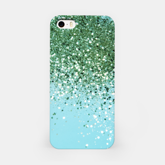 Thumbnail image of Green Blue Summer Glitter #1 (Faux Glitter - Photography) #shiny #decor #art  iPhone-Hülle, Live Heroes