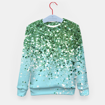 Thumbnail image of Green Blue Summer Glitter #1 (Faux Glitter - Photography) #shiny #decor #art  Kindersweatshirt, Live Heroes