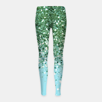 Thumbnail image of Green Blue Summer Glitter #1 (Faux Glitter - Photography) #shiny #decor #art  Kinder-Leggins, Live Heroes