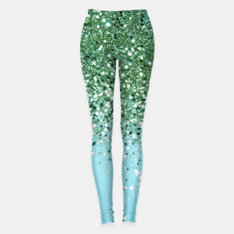 Thumbnail image of Green Blue Summer Glitter #1 (Faux Glitter - Photography) #shiny #decor #art  Leggings, Live Heroes