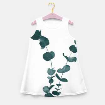 Miniaturka Eucalyptus Leaves Dream #3 #foliage #decor #art Mädchen-Sommerkleid, Live Heroes
