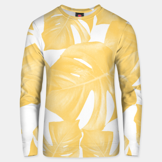 Thumbnail image of Monstera Leaves Yellow Summer Vibes Pattern #1 #tropical #decor #art Unisex sweatshirt, Live Heroes