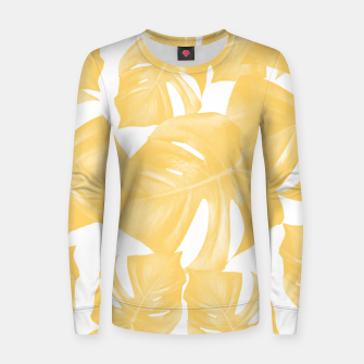 Thumbnail image of Monstera Leaves Yellow Summer Vibes Pattern #1 #tropical #decor #art Frauen sweatshirt, Live Heroes