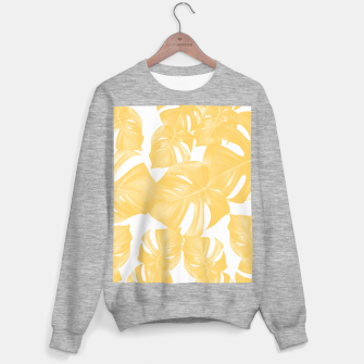 Thumbnail image of Monstera Leaves Yellow Summer Vibes Pattern #1 #tropical #decor #art Sweatshirt regulär, Live Heroes