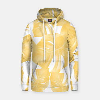 Thumbnail image of Monstera Leaves Yellow Summer Vibes Pattern #1 #tropical #decor #art Kapuzenpullover, Live Heroes