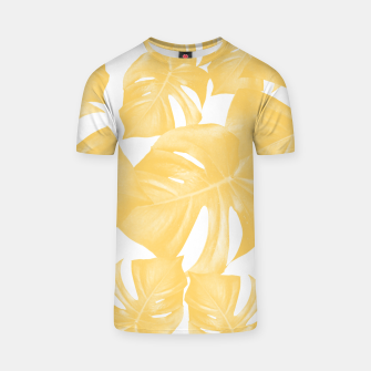 Thumbnail image of Monstera Leaves Yellow Summer Vibes Pattern #1 #tropical #decor #art T-Shirt, Live Heroes