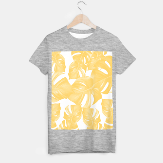 Thumbnail image of Monstera Leaves Yellow Summer Vibes Pattern #1 #tropical #decor #art T-Shirt regulär, Live Heroes