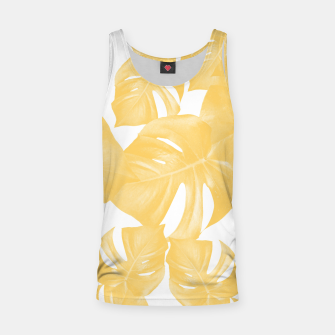 Thumbnail image of Monstera Leaves Yellow Summer Vibes Pattern #1 #tropical #decor #art Muskelshirt , Live Heroes