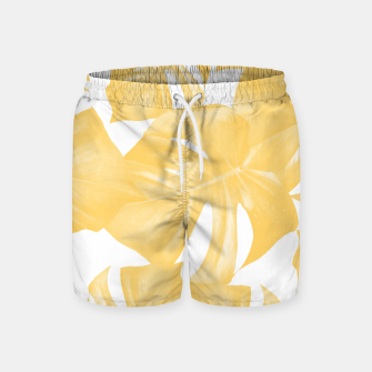 Thumbnail image of Monstera Leaves Yellow Summer Vibes Pattern #1 #tropical #decor #art Badeshorts, Live Heroes