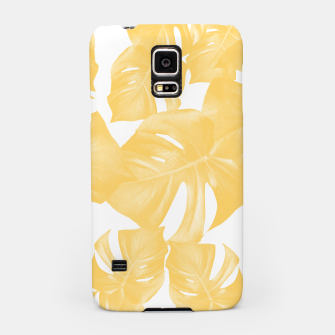 Thumbnail image of Monstera Leaves Yellow Summer Vibes Pattern #1 #tropical #decor #art Handyhülle für Samsung, Live Heroes