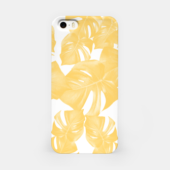 Thumbnail image of Monstera Leaves Yellow Summer Vibes Pattern #1 #tropical #decor #art iPhone-Hülle, Live Heroes